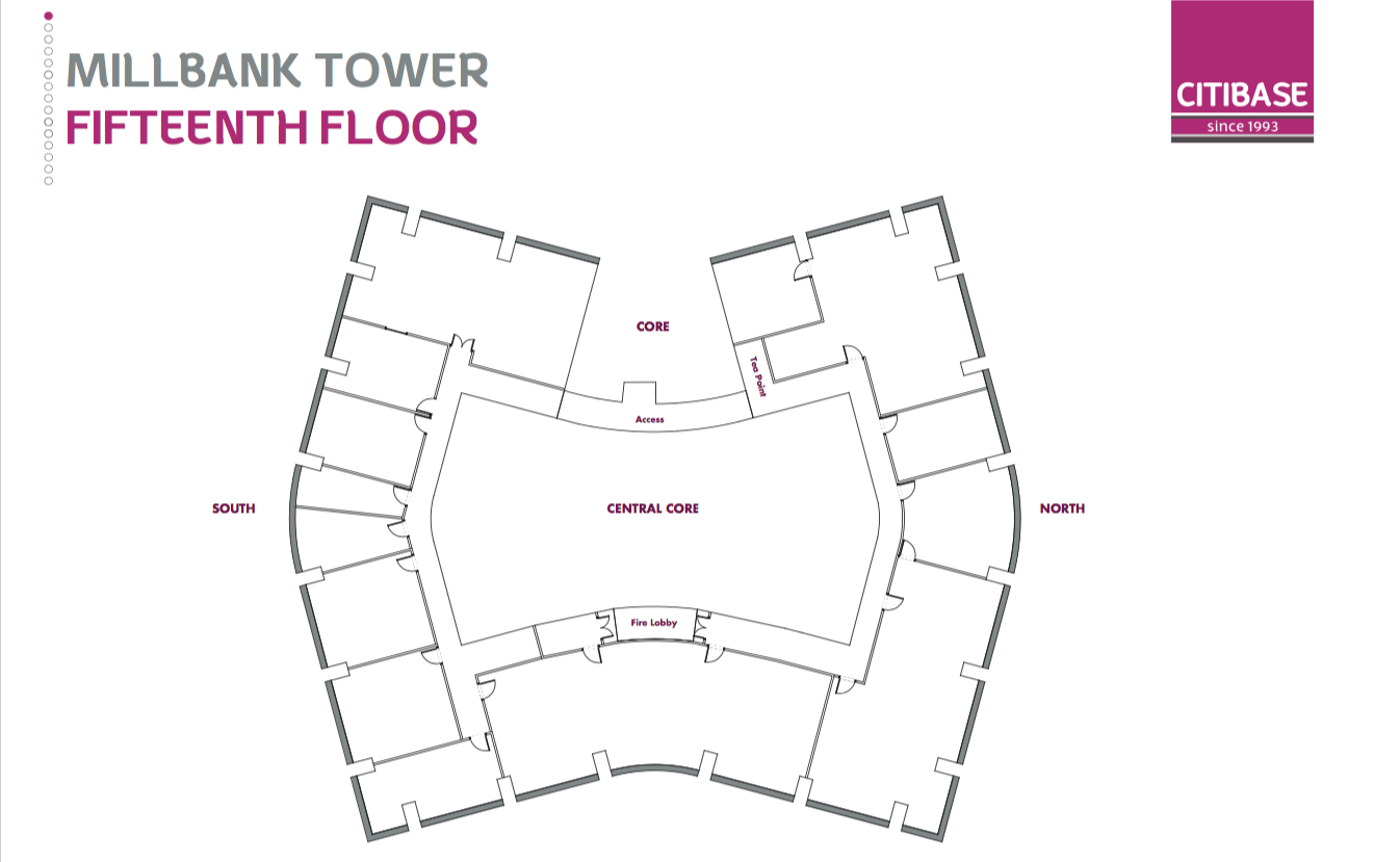 Floor Plan of Fifteenth Floor