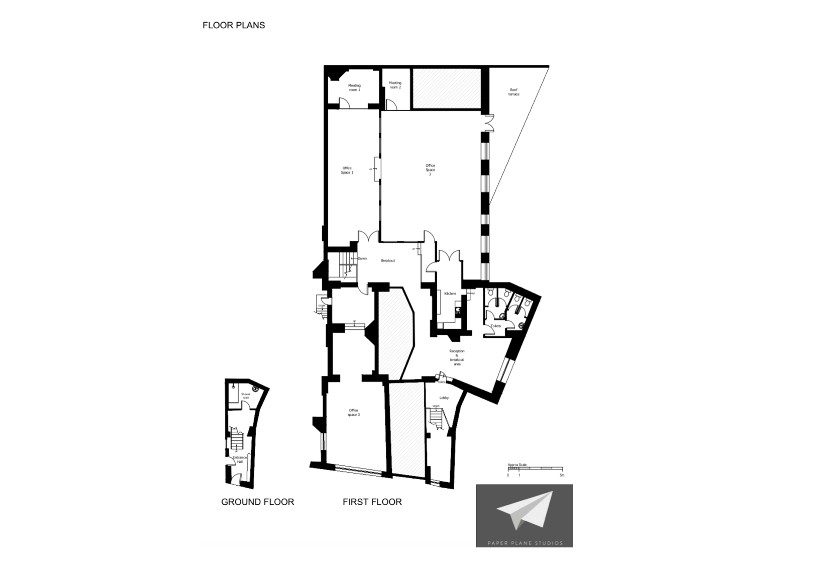 Floor plan for 70 person private office