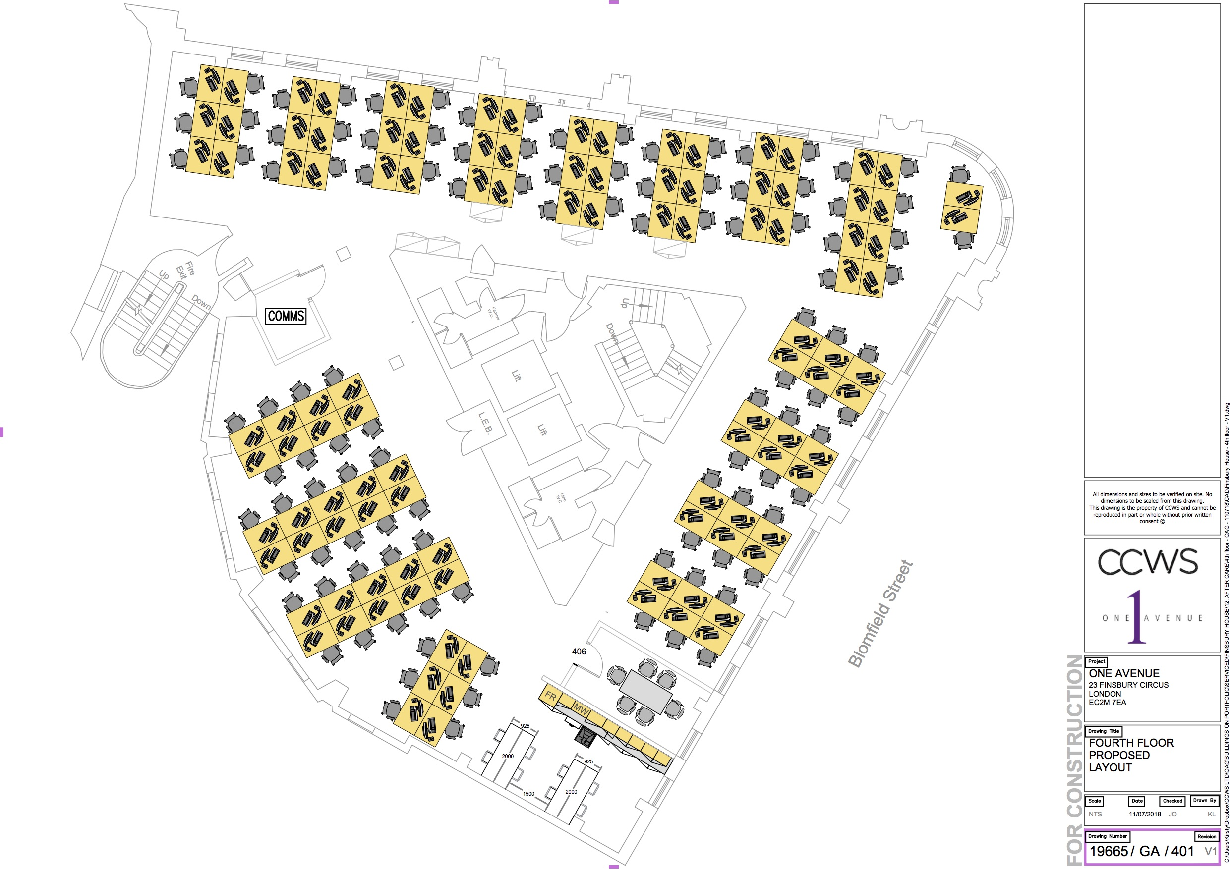 100 desks - 4th Floor Floor Plans