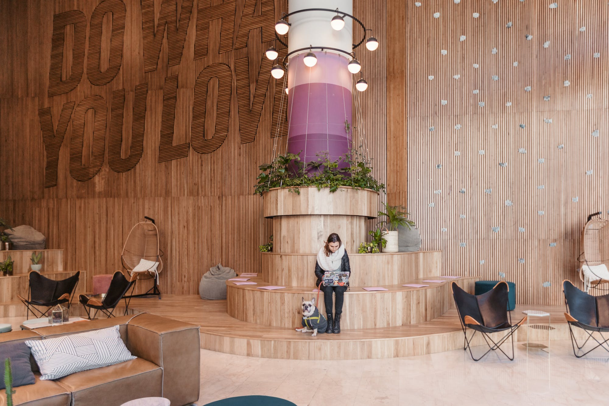 Photos show other WeWork building but will be similar decor