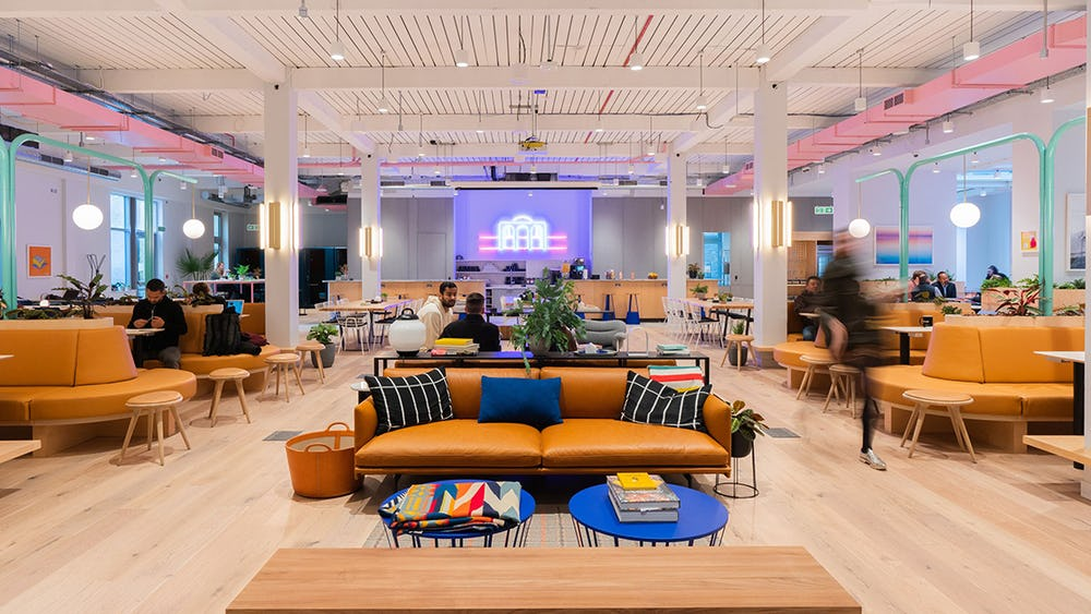 Example of WeWork space