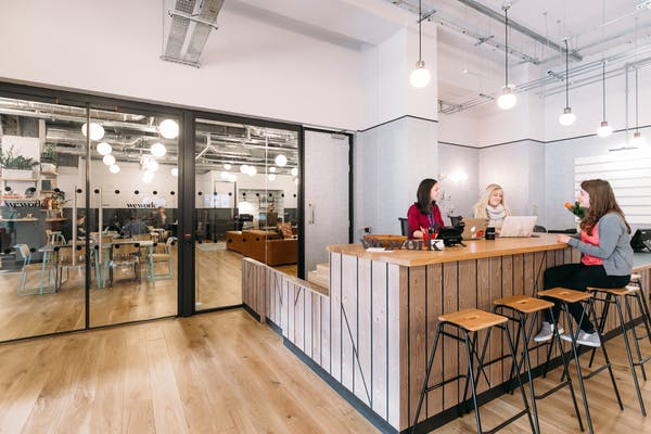 This photo shows an example of another WeWork building